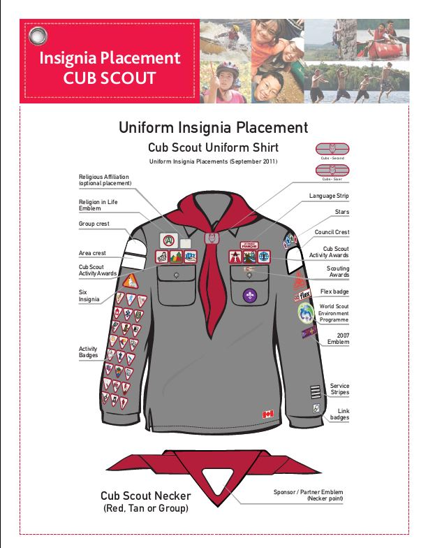 badge placement and uniform requirements